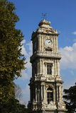 Clock tower in dolmabahce palace,Istanbul,Turkey Stock Images