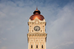 Clock tower. In downtown Kuala Lumpur royalty free stock images