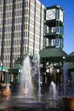 Clock Tower in downtown Memphis Stock Photos