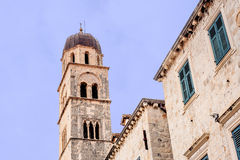 Clock Tower in Dubrovnik old town, Croatia Royalty Free Stock Image