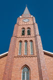 Clock tower of the Dutch Reformed Church in Boshof Royalty Free Stock Photos