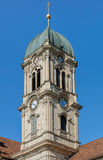 Clock tower of the Einsiedeln Abbey Royalty Free Stock Images