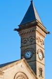 Clock tower of English church Stock Photo