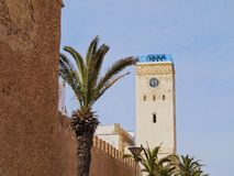 Clock tower in Essaouira, Morocco Stock Image
