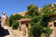 Clock tower of Figueira de Castelo Rodrigo,Guarda, Portugal royalty free stock images