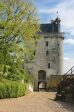 The Clock Tower. Fortress. Chinon. France. The clock tower (La Tour de l'Horloge) in the Fortress. It is the main entrance to the castle. Chinon. France Stock Photo