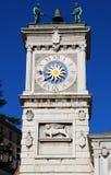 Clock tower in freedom square, Piazza della Libertà. Udine, Friuli Venezia-Giulia, Italy. Clock tower in freedom square, Piazza della Libertà. Udine royalty free stock photo