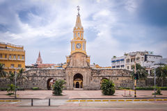 Clock Tower Gate - Cartagena de Indias, Colombia Stock Image