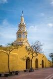 Clock Tower Gate - Cartagena de Indias, Colombia Stock Photos