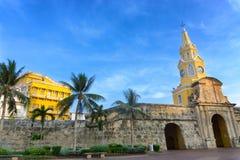 Clock Tower Gate in Cartagena Stock Photos