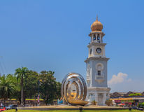 Clock Tower in Georgetown Penang Royalty Free Stock Photography