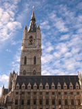 Clock tower in Ghent. The Old Clock tower and Town hall in Ghent Belgium Royalty Free Stock Photos