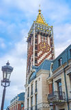 The clock tower with the golden roof Stock Photos