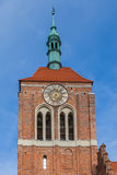 The clock tower of the Gothic church Royalty Free Stock Photo