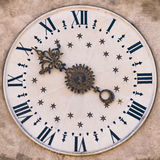 Clock tower in Gothic Renaissance style. Royalty Free Stock Photo