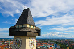 Clock tower of Grace Royalty Free Stock Photo
