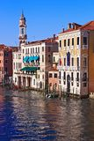 Clock Tower in Grand canal Venice Royalty Free Stock Images