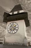Clock Tower in Graz Royalty Free Stock Image