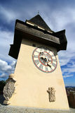 The Clock tower in Graz Royalty Free Stock Images