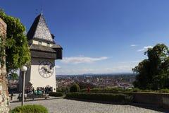 Clock tower. In Graz, Austria Stock Images