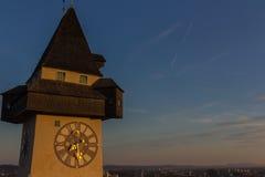 The clock tower. Of Graz, Austria Stock Photos