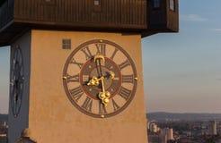The clock tower. Of Graz, Austria Stock Image
