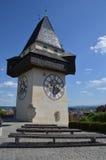 Clock Tower in Graz, Austria Stock Photos
