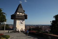 Clock Tower in Graz, Austria. Stock Image