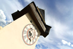 The Clock tower in Graz Royalty Free Stock Photo