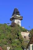 Clock tower in Graz. The Clock-tower (Uhrturm) in Graz, Austria Royalty Free Stock Photo