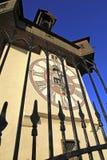 Clock tower in Graz. The Clock-tower (Uhrturm) in Graz, Austria Royalty Free Stock Image