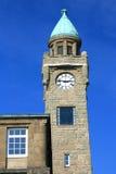 Clock tower in Hamburg harbor (Germany) Stock Image