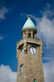 Clock tower in Hamburg harbor Royalty Free Stock Photography