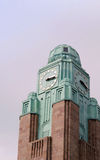 Clock tower of Helsinki railway station in Finland Royalty Free Stock Photo