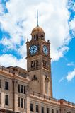 Clock tower of historic Central station in Sydney CBD Royalty Free Stock Images