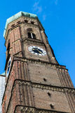 Clock Tower of Historical Munich Frauenkirche Stock Photography
