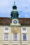 Clock tower in Hofburg Palace Royalty Free Stock Photography