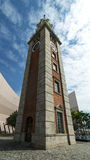 Clock Tower, Hong Kong. The Clock Tower is a landmark in Hong Kong. It is located on the southern shore of Tsim Sha Tsui, Kowloon. It is the only remnant of the royalty free stock photo