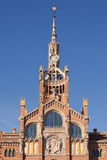Clock tower of Hospital de Sant Pau Royalty Free Stock Images