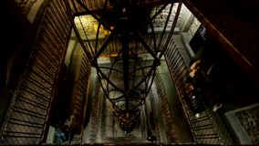 Clock tower interior stock video footage