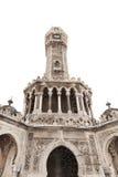 Clock tower isolated on white, Izmir, Turkey Royalty Free Stock Photos
