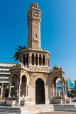 Clock Tower, Izmir. IZMIR, TURKEY - OCTOBER 04, 2014: Clock Tower, Ottoman architecture of historic symbol of Izmir at the  Konak Square, built in 1901. İzmir Royalty Free Stock Images