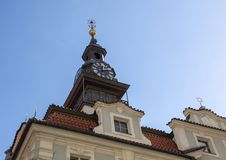 Clock Tower, Jewish Town Hall, Prague, Czech Republic stock photography