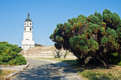 Clock tower at Kalemegdan fortress in Belgrade Stock Images