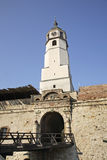 Clock tower in Kalemegdan fortress. Serbia Stock Photos