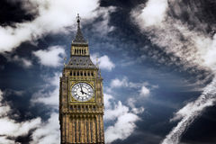 Clock Tower known as Big Ben, in London, UK Stock Images