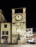 Clock Tower, Kotor Stock Photos
