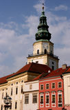 Clock tower in Kromeriz Stock Image