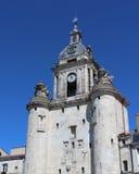 Clock Tower, La Rochelle. The ancient `Porte de la Grosse Horloge` Door of the Big Clock, at the old port, in La Rochelle, France Stock Photos