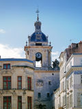 Clock tower, La Rochelle, France. Tower with a clock, La Rochelle : The old part of the city Stock Photo
